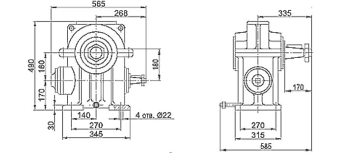 чертеж лифтового редуктора